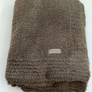 Barefoot Dreams CozyChic Green/Brown Throw Blanket